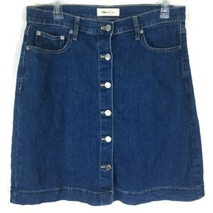 GAP Blue Jean Mini Skirt Womens 10 TALL